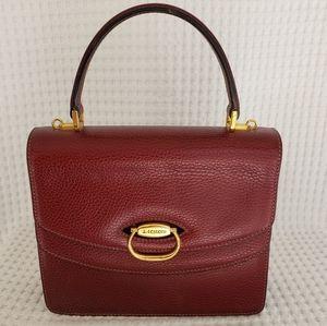 a. testoni Burgundy Top Handle Handbag